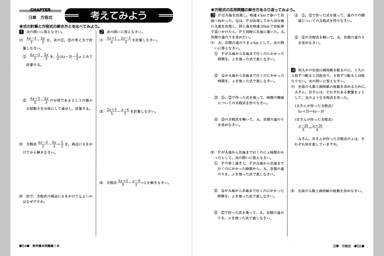 ... 式の問題集 数学基本問題集 : 中学校 問題集 : 中学