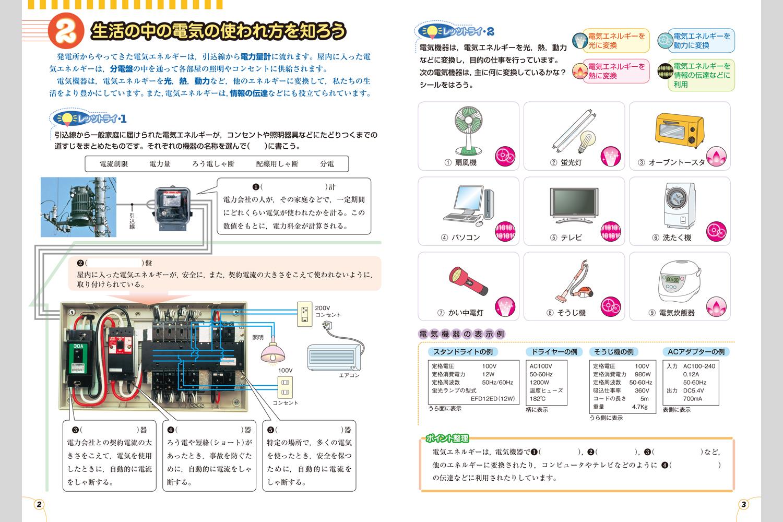 電気ノート | 中学校教材 技術 ...