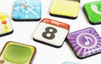 iPhoneアプリアイコン型マグネット
