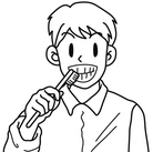 歯をみがく