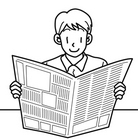 新聞を読む